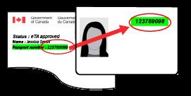 Afbeelding van goedkeuringsbrief en paspoortinformatiepagina