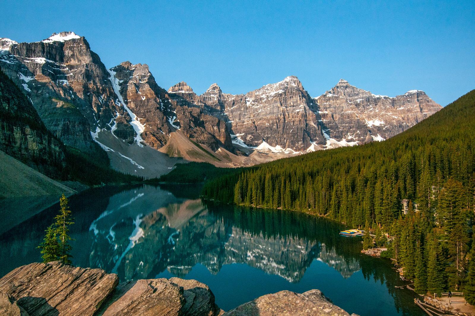 Uitzicht op de Rockies vanuit Banff National Park
